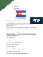 Colorado State Flag History