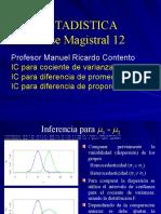 IC diferencias y cociente