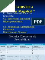 Magistral7-Variables A. Continuas y discretas