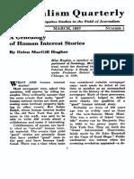 a genealogy of human interest stories