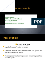 CSR must be improved in Bangladesh