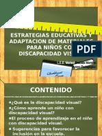 ESTRATEGIAS EDUCATIVAS Y ADAPTACION DE MATERIALES PARA NIÑOS