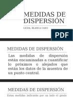 MEDIDAS DE DISPERSIÓN 12 de mayo