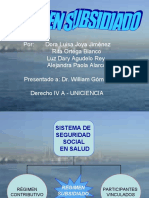 DIAPOSITIVAS REGIMEN SUBSIDIADO