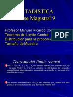 Magistral9-Teorema del Limite Central tamaño de muestra y distribucion