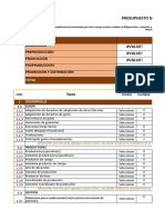 Formato presupuesto