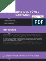 SINDROME DEL TÚNEL CARPIANO