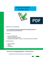 Curso auditor interno ISO 9-2015