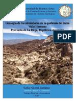 Sofia Zoraires Geologia de Los Alrrededores de La Qubrada Del Jume - La Rioja