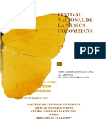 FESTIVAL NACIONAL DE LA MUSICA COLOMBIANA YEIMY