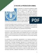 La FAO y la producción agropecuaria