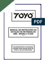Manual estação sopradora Toyo TS850