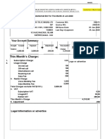 Voice and Internet Bill