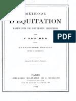 1874 - Méthode d'Equitation (F. Baucher)
