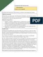 Características de la propuesta de intervención
