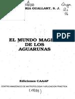 El mundo magico de los aguarunas (indice)
