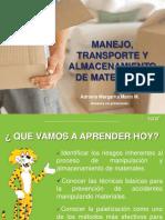 MANEJO, TRANSPORTE Y ALMACENAMIENTO DE MERCANCIAS