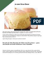 BRIOCHE  DE FUBÁ
