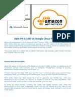 AWS VS Azure VS Google - Cloud Comparison - QA Automation