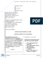 Complaint for Injunctive and Declaratory Relief, Prof. Beauty Federation of California v. Newsom, No. 2:20-cv-04275 (C.D. Cal. May 12, 2020)