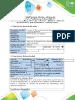 Guía de actividades y rubrica de evaluación- Etapa 3 - Selección de alternativas de tratamiento de resiudos sólidos (1) (1)