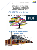 CARPETA DEL TUTOR LEO 2019