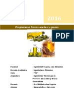 propiedades fisicas de los aceites y grasas