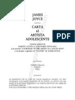 Carta al artista adolescente Joyce Luis Mario Moncada
