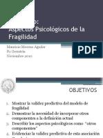Seminar Psychologie of Frailty Syndrome