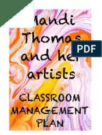 ed 110 classroom management plan - mandi thomas
