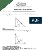 AP1 Geometria Plana CEDERJ Gabarito