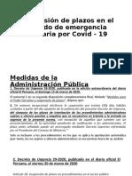Suspensión de plazos en el periodo de emergencia