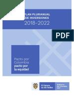 PLAN NACIONAL DE DESARROLLO -PLAN PLURIANUAL DE INVERSIONES PPI 2018-2022n