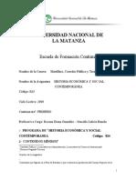 HISTORIA ECONÓMICA SOCIAL Y CONTEMPORÁNEA