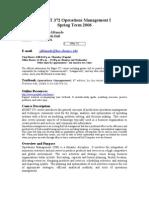MGMT 372 Operations Management I