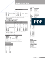 Four Corners Level 1 Unit 12 Language Summary