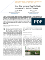 11. AUTOMATIC TRACKING SOLAR POWERED PANEL FOR PADDY FIELD ENVIRONMENT BY VERTICAL FARMING