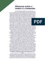 A Diferença Entre O Candomblé E A Umbanda