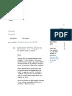 Windows 10 Pro 32 bit to 64 bit Clean Install - Microsoft Commu