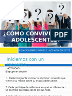 RELACION ENTRE PADRES E HIJOS ADOLESCENTES PRESENTACIÓN
