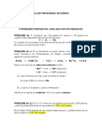 TALLER TRANSVERSAL DE QUÍMICA. ACCIÓN 1 PROBLEMAS