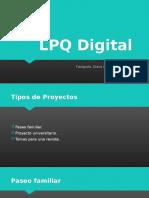 Evidencia 1 - El equipo Fotográfico LPQ Digital