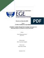 Análisis del papel de la tecnología como apoyo a la educación formal y no formal de carácter presencial