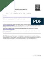 Surveys in Applied Economics - Models of Consumer Behaviour