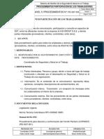 PEI-SST-004 PROCEDIMIENTOS PARTICIPACIÓN DE LOS TRABAJADORES.