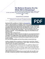 noble why do we believe dreams