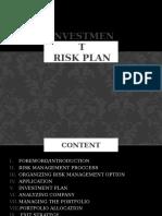 INVESTMENT RISK PLAN