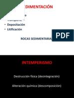 EROSION Y ROCAS SEDIMENTARIAS