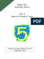 Mental Math Y5 AUTUMN