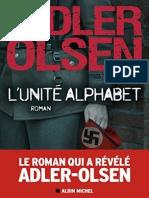 Jussi Adler Olsen LUnite Alphabet